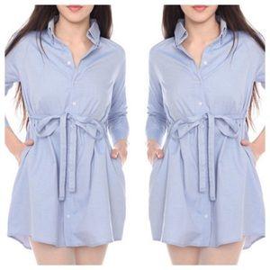 American Apparel Poly-Cotton Oxford Shirt Dress